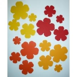 Хартиени елементи - цветя жълти и оранжеви