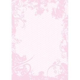 Дизайнерска хартия, А4 - Точки с орнаменти, розово 5