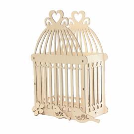 Дървена клетка за птици