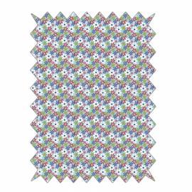Дизайнерско платче 50 см -цветчета синьо, червено