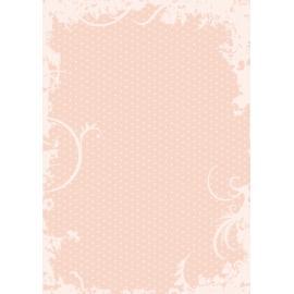 Дизайнерска хартия, А4 - Точки с орнаменти, праскова 7