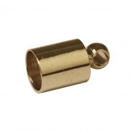 Завършващ накрайник -златни4мм