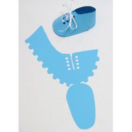 Бебешка обувка, синя
