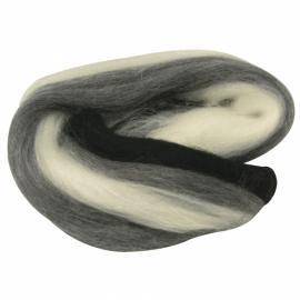 Суперфино мерино,меланж-черно и бяло