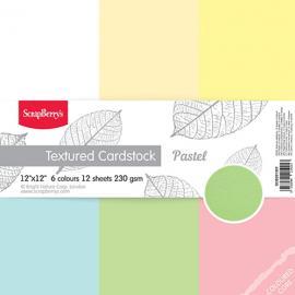 Картони ленена структура, пастелни цветове
