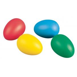 Пластмасови яйца, цветни, 4,5 см, 12бр