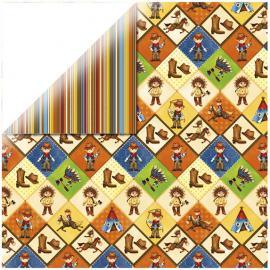 Дизайнерска хартия - индианци, каре