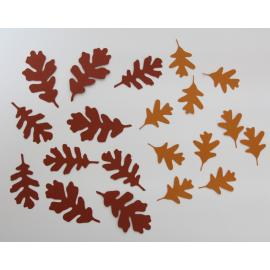 Хартиени елементи - есенни листа, 20 бр