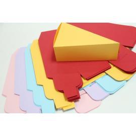 Кутийка - парче торта, жълтооранжева