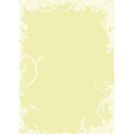 Дизайнерска хартия, А4 - Точки с орнаменти, лайм 7