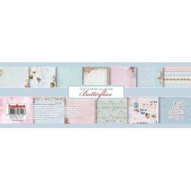 Дизайнерска хартия, блокче 12х12 Пеперуди