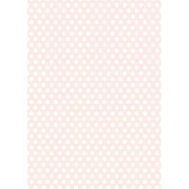 Дизайнерска хартия, А4 - Средни точки, пудра 3