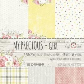 Дизайнерска хартия, блокче 6x6- My Precious Girl