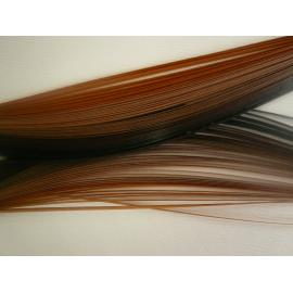 Квилинг лентички, кафява гама, 100бр, 50см, 3мм