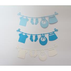 Хартиени елементи - просторче, бяло, светло синьо и синьо