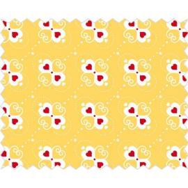 Tante Ema -жълто платче със сърчица