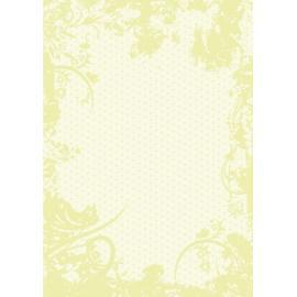 Дизайнерска хартия, А4 - Точки с орнаменти, лайм 5