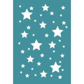 Шаблон за декупаж - звезди