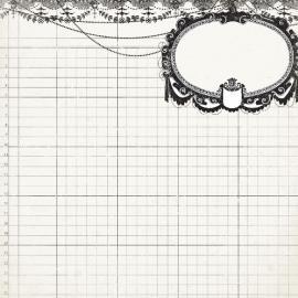Дизайнерска хартия, лист - Класическа елегантност