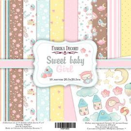 Дизайнерска хартия, блокче Sweet baby girl 8x8 инча