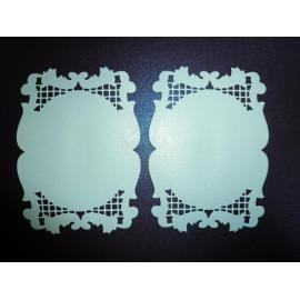 Хартиени елементи - рамки перлени екрю