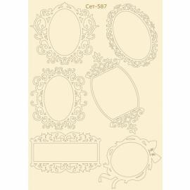 Бирен картон - сет 587 рамки