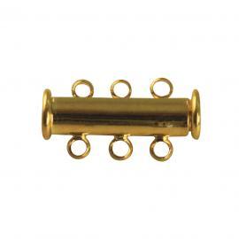 Магнитна закопчалка с ушенца-златна20мм