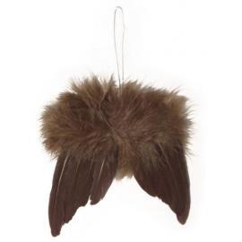Ангелски крилца, тъмно кафяви малки, 2 бр