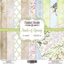Дизайнерска хартия, блокче Smile of spring 8x8 инча