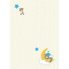 Дизайнерска хартия, А4 - бебе мече на луна