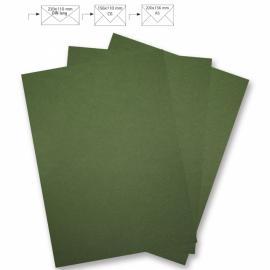 Картон Металик - зелен