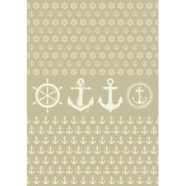 Дизайнерска хартия, А4 - Морски спомени 10