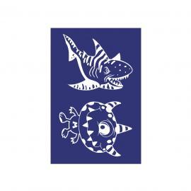 Шаблон чудовище и акула