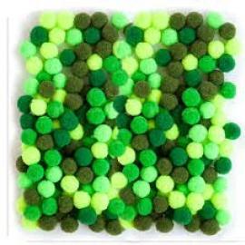 Помпони зелени, 1 см, 120 бр.