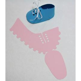 Бебешка обувка, розова