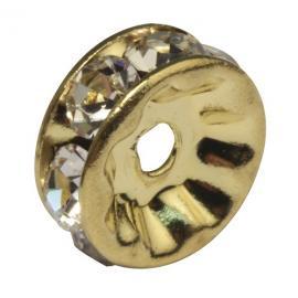 Кристални елементи за гривни-златни