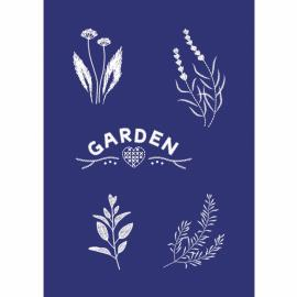 Шаблон за текстил-градина