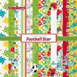 Дизайнерска хартия, блокчe - Football Star 6x6 инча