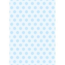 Дизайнерска хартия, А4 - Големи точки, синьо 2