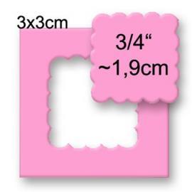 Пънч накъдрен квадрат, 1,9см
