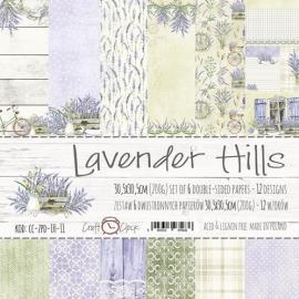 Дизайнерска хартия, блокчe 12x12 - Lavender Hills