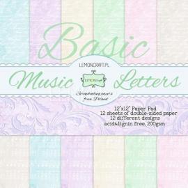 Дизайнерска хартия, блокче Music letters