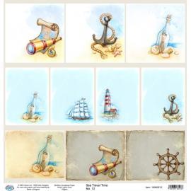 Дизайнерска хартия, лист - Sea travel time 13