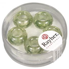 Стъклени мъниста 13мм-зелени
