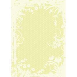 Дизайнерска хартия, А4 - Точки с орнаменти, лайм 8