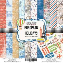 Дизайнерска хартия, блокче European holidays 8x8 инча
