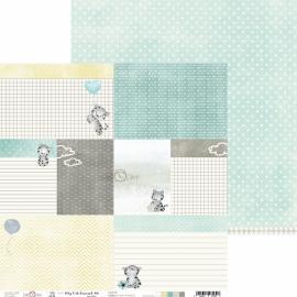 Дизайнерска хартия, 12x12 - My Cat Friend 6