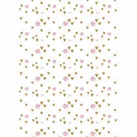 Дизайнерска хартия А4 - рози, бяла