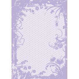 Дизайнерска хартия, А4 - Точки с орнаменти, лилаво 3