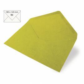 Японска хартия, плик, жълтозелено
